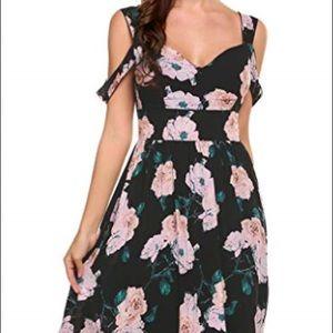 Floral Black and Pink Dress